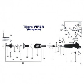 Tuerca de Tensión para tijera Viper