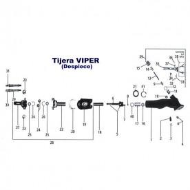 Eje Helicoidal para tijera Viper